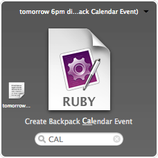 Quicksilver: create event